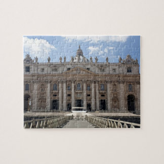 Front view of St. Peter's Basilica, Vatican. Puzzle