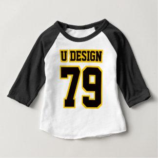Front WHITE BLACK GOLD 3/4 Sleeve Raglan T Shirt