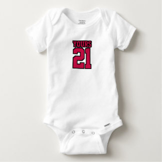 Front WHITE CRIMSON RED BLACK One Piece Jersey T Shirt