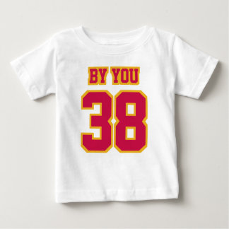 Front WHITE CRIMSON RED GOLD Football Crewneck Tee