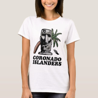 Front White Haynes Comfortsoft Woman's Islander T-Shirt