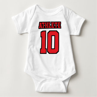 Front WHITE RED BLACK Bodysuit Football Jersey