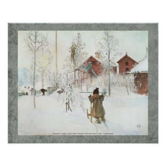 Front Yard and the Wash House Carl Larsson 20x16 Poster