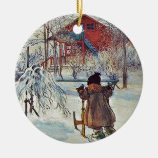 Front Yard and Wash House Christmas Ornament