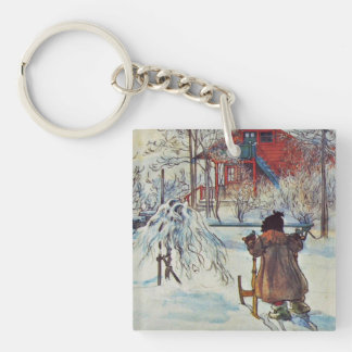 Front Yard and Wash House Double-Sided Square Acrylic Key Ring