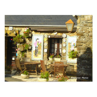 Frontage pancake shop BRITTANY FRANCE Postcard