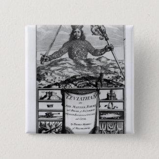 Frontispiece by Thomas Hobbes  of Malmesbury 15 Cm Square Badge