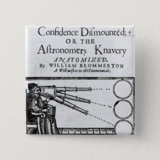 Frontispiece Confidence Dismounted;Astronomer 15 Cm Square Badge
