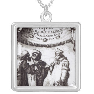 Frontispiece 'Dialogo sopra I due massimi�' Silver Plated Necklace
