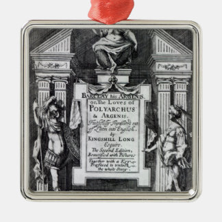 Frontispiece for 'Argenis' by John Barclay Christmas Ornament