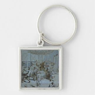 Frontispiece for the Royal Printing Works Silver-Colored Square Key Ring