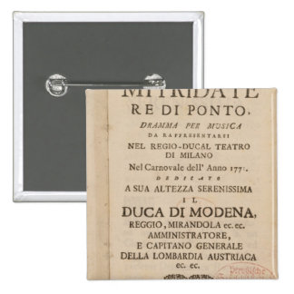 Frontispiece from an early copy 15 cm square badge