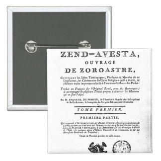 Frontispiece of an edition of the 'Zend 15 Cm Square Badge