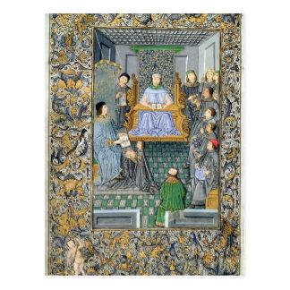 Frontispiece of Antonio de Nebrija's  'Gramatica' Postcard