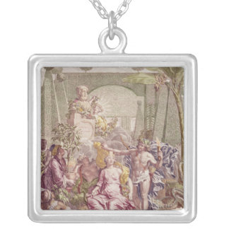 Frontispiece of 'Hortus Cliffortianus' by Carl Silver Plated Necklace
