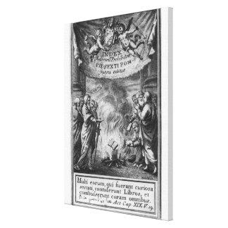 Frontispiece of 'Index Librorum Prohibitorum' Canvas Print