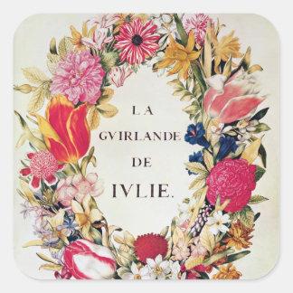 Frontispiece of 'La Guirlande de Julie', c.1642 Square Sticker