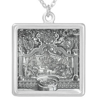 Frontispiece of 'Messes' by Roland de Lassus Silver Plated Necklace
