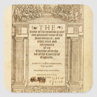 Frontispiece of 'The Book of Common Prayer' Square Sticker