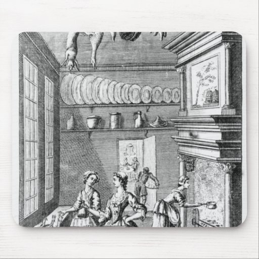 Frontispiece of 'The Compleat Housewife' Mouse Pads