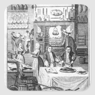 Frontispiece of 'The Housekeeper's Instructor' Square Sticker