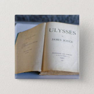 Frontispiece of 'Ulysses' by James Joyce 15 Cm Square Badge