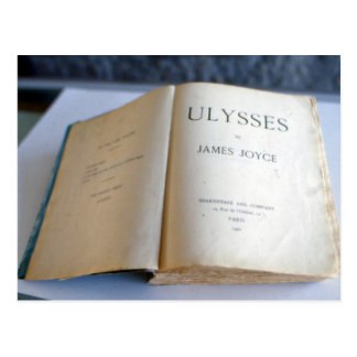 Frontispiece of 'Ulysses' by James Joyce Postcard