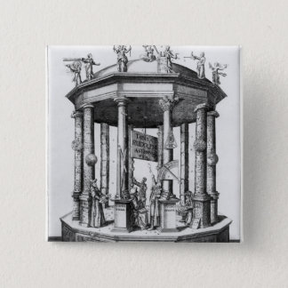 Frontispiece 'The Rudolphine Tables' 15 Cm Square Badge