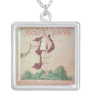 Frontispiece to 'A Little Book of Love' Silver Plated Necklace