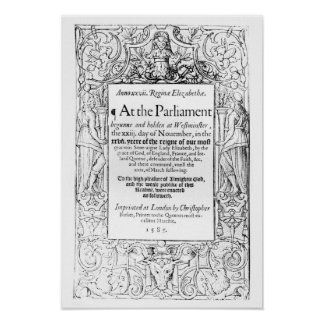 Frontispiece to an account of parliament poster