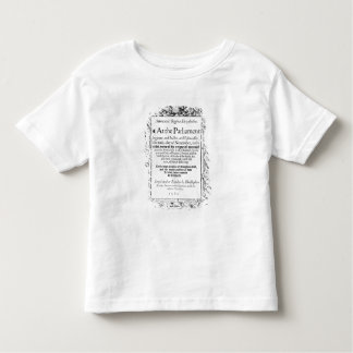Frontispiece to an account of parliament toddler T-Shirt