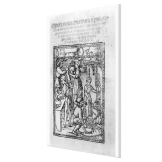 Frontispiece to an Italian cook book Canvas Print