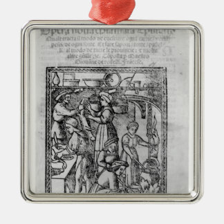 Frontispiece to an Italian cook book Christmas Ornament