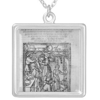 Frontispiece to an Italian cook book Silver Plated Necklace