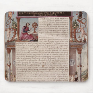 Frontispiece to Book I showing a page of text Mouse Mat