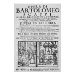 Frontispiece to cook book of Bartolomeo Scappi Poster