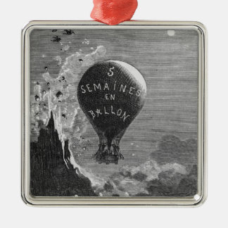 Frontispiece to 'Five Weeks in a Balloon' Christmas Ornament