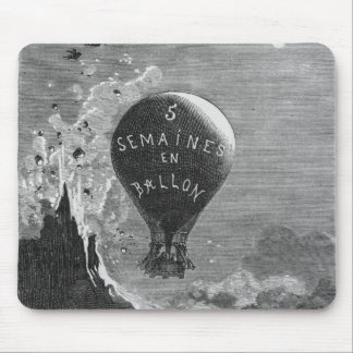 Frontispiece to 'Five Weeks in a Balloon' Mouse Pad