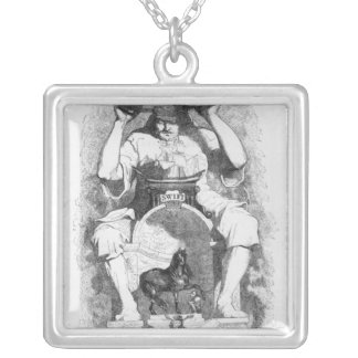 Frontispiece to 'Gulliver's Travels' by Silver Plated Necklace