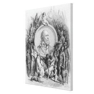 Frontispiece to 'Idylls of the King' Canvas Print