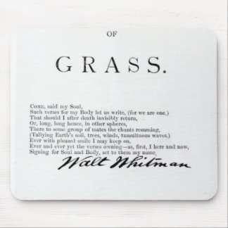 Frontispiece to 'Leaves of Grass' Mouse Mat