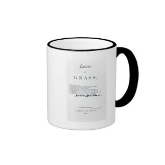 Frontispiece to 'Leaves of Grass' Coffee Mugs