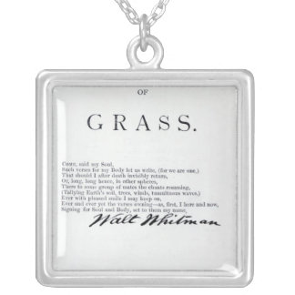 Frontispiece to 'Leaves of Grass' Silver Plated Necklace