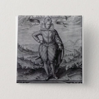 Frontispiece to 'Les Hermaphrodites' 15 Cm Square Badge