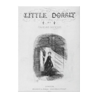 Frontispiece to 'Little Dorrit' by Charles Canvas Print