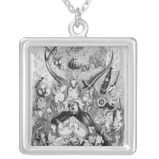 Frontispiece to 'Memoirs of a Stomach' Silver Plated Necklace