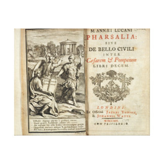 Frontispiece to 'Pharsalia' Canvas Print