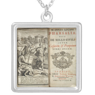 Frontispiece to 'Pharsalia' Silver Plated Necklace