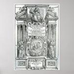 Frontispiece to 'Quattro libri dell'architettura' Poster