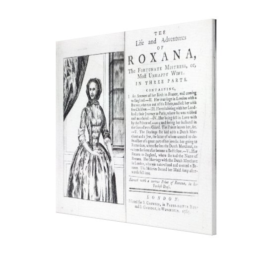 Frontispiece to 'Roxana, The Fortunate Gallery Wrap Canvas